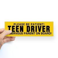 Teen Driver And Parent Bumper Sticker