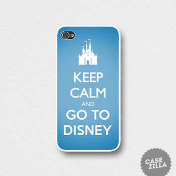 iPhone 5 Case Keep Calm and Go To Disney iPhone 5S Case, iPhone 4/4S Case, iPhone 5C Case