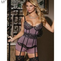 ONETOW MOONIGHT Hot Selling Sexy Lingerie Women's Appliques Nightwear High Quality Underwear  Sexy Costumes Free Shipping