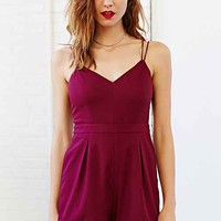 Silence + Noise Strappy Front-V Romper-