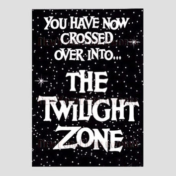 Twilight Zone Cross Stitch, Twilight Zone, Rod Serling, TV Cross Stitch, Needlepoint, Vintage TV Shows from NewYorkNeedleworks on Etsy