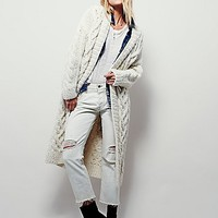 Free People Womens Chunky Cable Cardigan