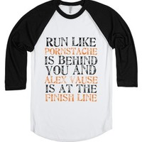 Run! (OhSoTumblr American Apparel Unisex Baseball Tee - Various Col...