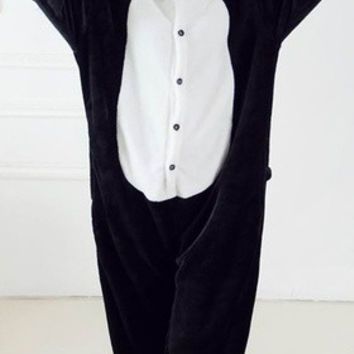 New 2016 Panda Cosplay Costume Animal Suits Onesuit Pyjamas Pajamas Sleepwear Party Dress One Piece [8426519367]