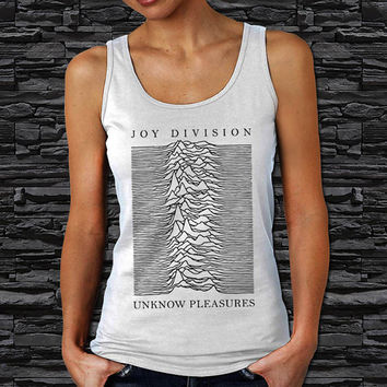 Joy Division Unknow Pleasures, Post Punk Music Woman Tank Top (Color Available)