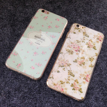 Cute Countryside Floral iPhone 6 6s Plus Case Cover Gift-161