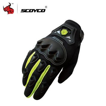 ac NOOW2 SCOYCO Professional Motocross Off-Road Racing Full Finger Gloves Motorcycle Riding Gloves Protective Gear Outdoor Sports Guantes