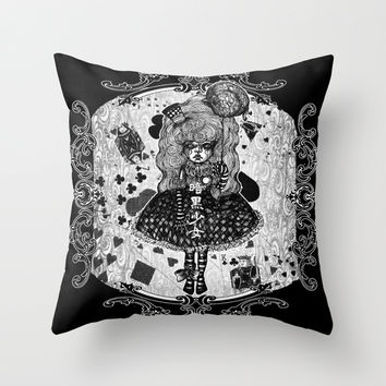Gothic Girl Throw Pillow by AKIKO | Society6