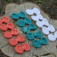 1000 crochet bows lot, CROCHET BOW baby bow for headband,wholesale applique,scrapbook supplies,embellishments,Set of 1000, Color: you pick