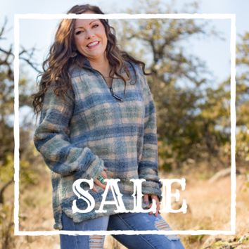 XL Mint & Navy Southern Marsh Pullover