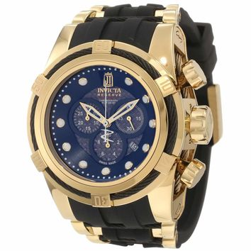 Invicta 12955 Limited Edition Men's Jason Taylor Bolt Zeus Reserve Black Dial Gold Tone Steel Chronograph Dive Watch
