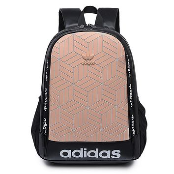 ADIDAS hot selling gradient Mosaic tattoo men's and women's casual shoulder shopping bag #6