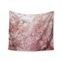 "Debbra Obertanec ""Spring Pinks"" Floral Digital Wall Tapestry"