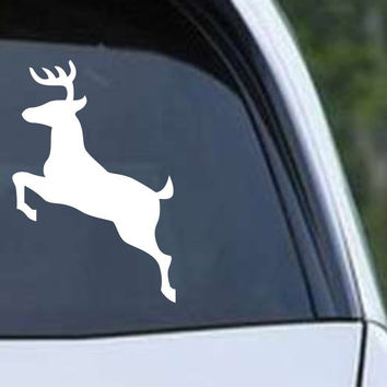 Buck Hunting Jumping HNT1-42 Die Cut Vinyl Decal Sticker