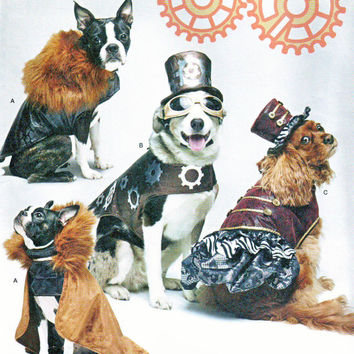 Simplicity # 1031 A ( Small-Medium-Large )  Steam Punk, Costumes, Dog Clothes and Hat in Three Sizes Sewing Pattern Uncut