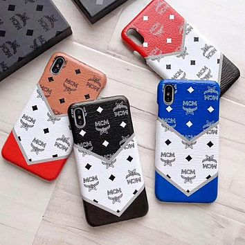 MCM Fashion Multicolor Mobile Phone Cover Case For iphone 6 6s 6plus 6s-plus 7 7plus 8 8plus X XsMax XR
