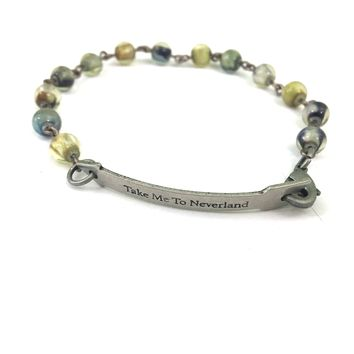 Take Me to Neverland Bracelet // Motivational Bracelet // Perfect Book Lover Gift