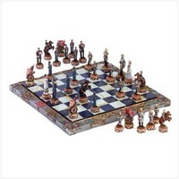Civil War Soldier Theme Chess Board And Game Piece Set
