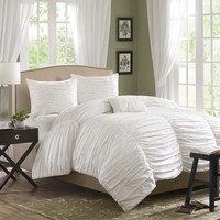 Madison Park Delancey Duvet Cover Set - White MP12-236/7