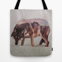 Wolf Tote Bag by Andreas Lie
