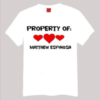 Property of Matthew Espinosa Small -2 XL Short Sleeve TShirt