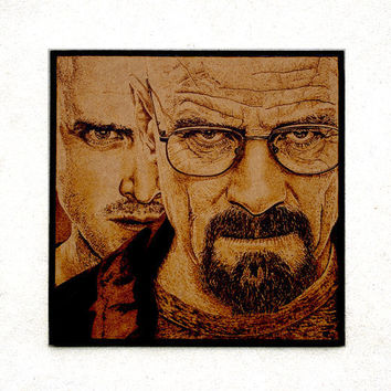 Breaking Bad - woodburned wall art