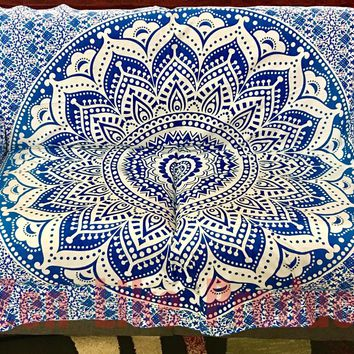 New Mandala Sofa Cover (Blue)
