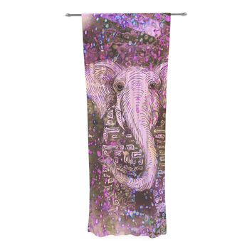"Marianna Tankelevich ""Pink Dust Magic"" Elephant Sparkle Decorative Sheer Curtain"