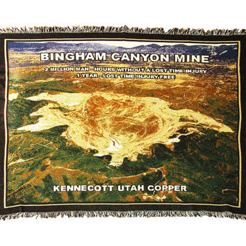 Kennecot Copper Mine Safety Blanket - 2 Million Man Hours - Utah Bingham Canyon Mine Disaster