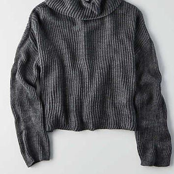 Don't Ask Why Turtleneck Sweater, Gray