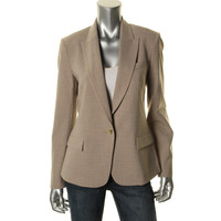 Theory Womens Gabe B 2 Heathered Fitted One-Button Blazer