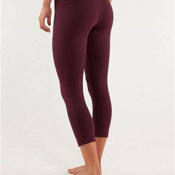 ONETOW Lululemon Fashion Exercise Gym Yoga Running Leggings Pants Trousers Sweatpants
