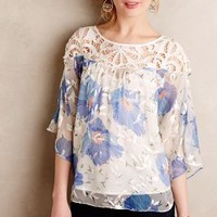 Florafall Peasant Top by Vanessa Virginia Blue Motif