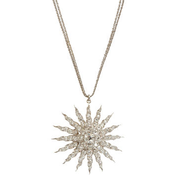 Renee Lewis Antique Diamond Starburst Pendant Necklace at Barneys.com