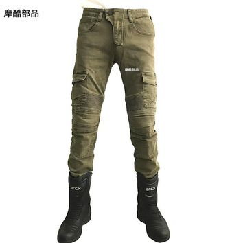 Strength speed - CE gear - updated version with protection  climbing-inspired cut pants motorcycle racing trousers
