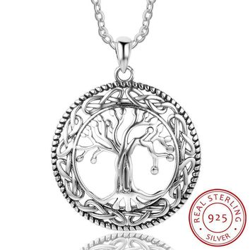 Celtic Dome Tree of Life Sterling Silver Necklace