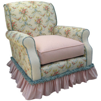 Angel Song 201021101Foam Blossoms and Bows Adult Club Glider Rocker