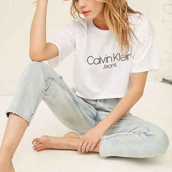 Calvin Klein Cropped Tee | Urban Outfitters