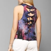 Staring At Stars Tie-Dye Knotted Muscle Tee - Urban Outfitters