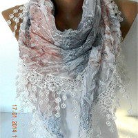 NEW-Elegant Scarf with Trim Edge- Fashion Scarves -Scarf -gift scarf-Gift