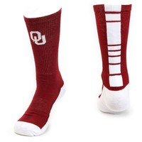 Mojo Oklahoma Sooners Champ 1/2-Cushion Performance Crew Socks - Women, Size: 9-11 (Red)