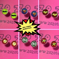 Justice League Symbols Stud Earrings by Zo Zo Tings