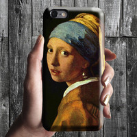 Girl with a Pearl Earring - Vermeer iPhone Case 6, 6S, 6 Plus, 4S, 5S. Phone Cell. Art Painting Gift Idea. Anniversary. Gift for him and her