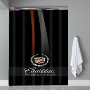 Top Famous Luxury Cadillac Emblem Logo Automotive Shower Curtain Limited Edition