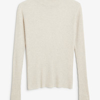 Monki | Knits | Ribbed long sleeve top