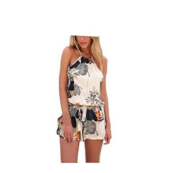 Rompers Women Summer Beach Jumpsuit Casual Sleeveless Party Evening Cocktail Short Mini Dress