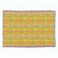 """Summer Flowers"" design throw blanket"