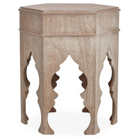 Moroccan Table, Limed Gray, Standard Side Tables