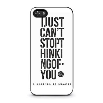 5 seconds of summer 6 5sos iphone 5 5s se case cover  number 1
