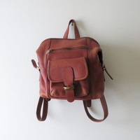 Vintage Authentic Coach Grunge Distressed Backpack Peach Pink Coral Small Travel Rucksack